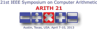 Accepted papers at ARITH 21 Symposium