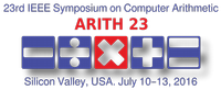 Accepted paper at ARITH23 Symposium