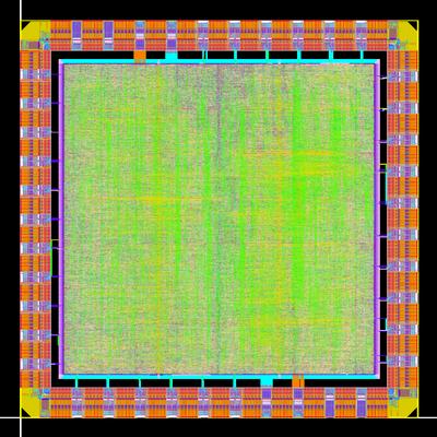 Layout of the ECC cryptoprocessor circuit